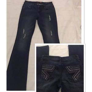 Peoples Liberation Jeans Bootcut Bling Star Pocket